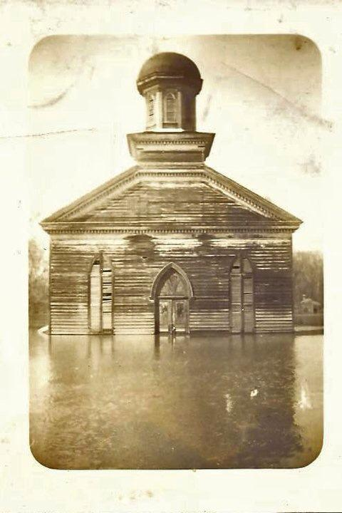 Mt. Zion Baptist Church during the 1935 Flood- Courtesy of Ivy McNeil
