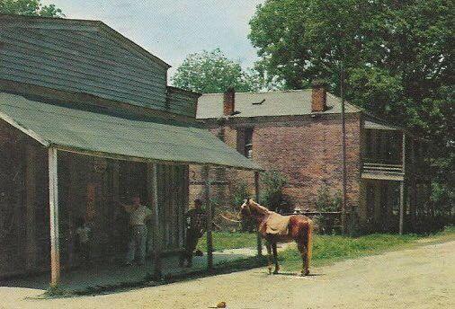 ms rodney orig 1950 60 angel puckett stree scene with horse.jpg