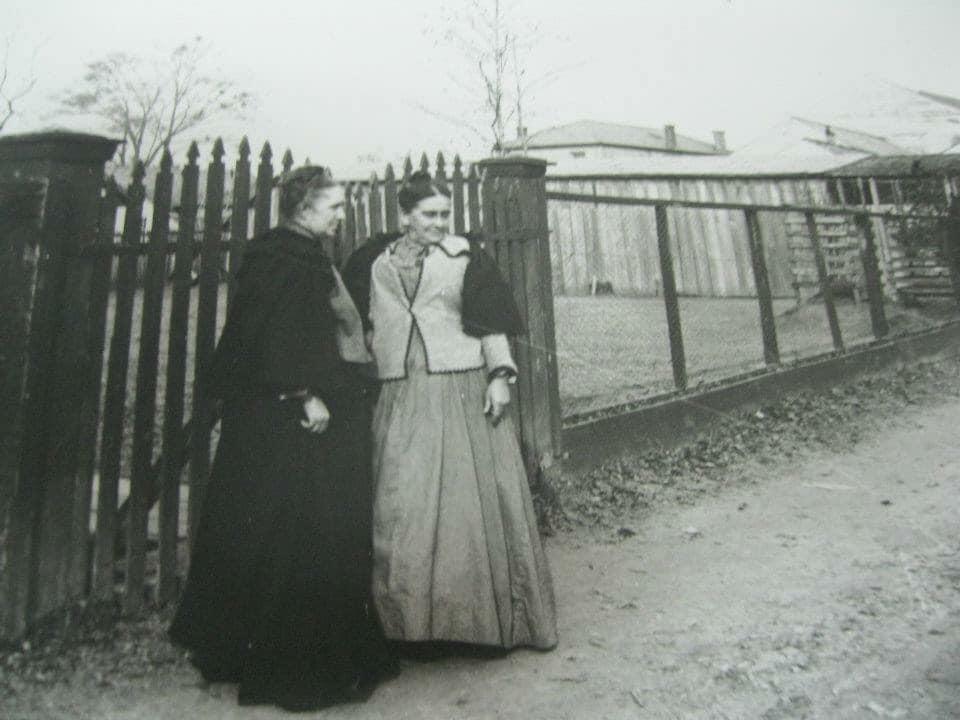 ms rodney orig photo date unk women along fence mary pallon.jpg